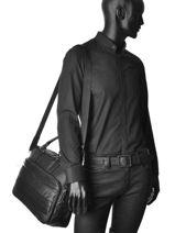Briefcase Serge blanco Black new city NCI41001-vue-porte