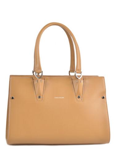 Longchamp Paris Premier Handbag Beige