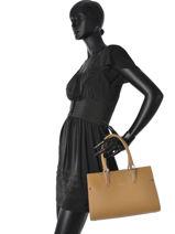 Longchamp Paris Premier Handbag Beige-vue-porte
