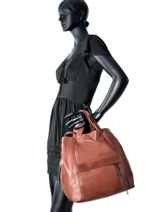 Sac Porté Main Two Color Cuir Gerard darel Marron two color DDS23401-vue-porte