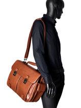 Briefcase Piquadro Brown black square CA1068B3-vue-porte
