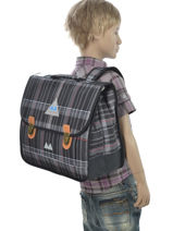 Satchel 2 Compartments Poids plume Gray be all over color PCO1538-vue-porte