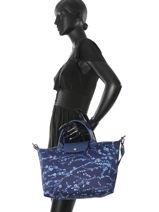 Longchamp Handbag Pink-vue-porte