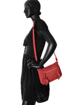 Shoulder Bag Avana Fuchsia Red avana F9657-3-vue-porte