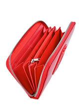 Wallet Armani jeans Red vernice lucida 5V32-55-vue-porte