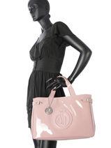 Cabas Vernice Lucida Verni Armani jeans Rose vernice lucida 5291-55-vue-porte