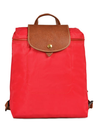 Longchamp Le pliage Backpack Red