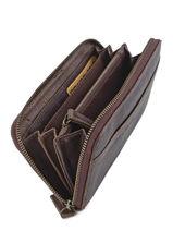 Wallet Leather Cowboysbag Brown sturdy romance 1304-vue-porte