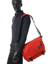 Sac Bandoulière A4 Delegate Eastpak Rouge authentic K076-vue-porte