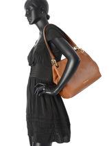 Shopper Raven Leather Michael kors Brown raven H6GRXE3L-vue-porte