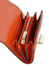 Card Holder Leather Michael kors Orange sullivan H6GUPD2L-vue-porte