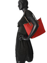 Shoulder Bag Lancaster Red kba 516-12-vue-porte