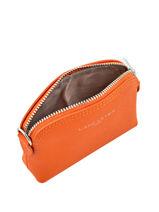 Purse Leather Lancaster Orange adele 121-25-vue-porte