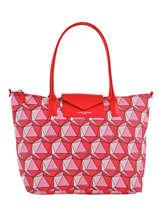 Shoulder Bag A4 Kba Imprime Lancaster Red kba imprime 517-09