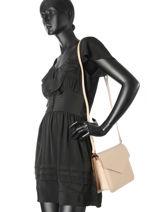 Shoulder Bag Pur Smooth Leather Lancaster Beige pur smooth 423-17-vue-porte