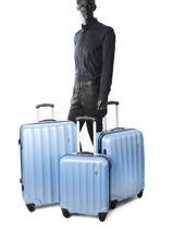 Luggage Set Barcelone Travel Blue barcelone 1412-LOT-vue-porte