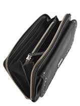 Continental Wallet Leather Ikks Black summer party BJ95559-vue-porte