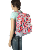 Backpack 1 Compartment Roxy Gray backpack RJBP3406-vue-porte