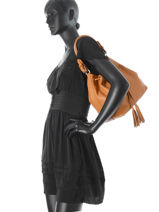 Purse  Leather Milano Brown 9178-vue-porte