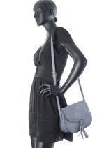 Shoulder Bag Edith Miniprix Blue edith MD192-vue-porte