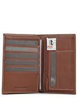 Wallet Leather Petit prix cuir Brown elegance SA901-vue-porte