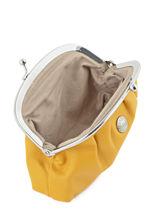 Purse Leather Hexagona Yellow coconut E77214-vue-porte