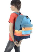 Backpack 1 Compartment Quiksilver Blue backpacks QYBP3337-vue-porte