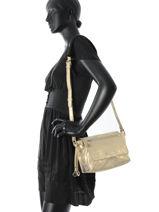 Shoulder Bag Night Silver/gold Lulu castagnette Beige night GINE-NIG-vue-porte