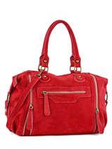 Shopper Velvet Leather Milano Red velvet VE160615