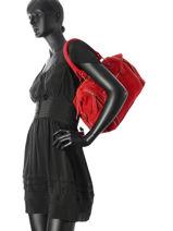Sac Shopping Velvet Cuir Milano Rouge velvet VE160615-vue-porte
