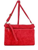 Shoulder Bag Velvet Milano Red velvet VE161214