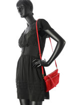 Shoulder Bag Velvet Milano Red velvet VE161214-vue-porte