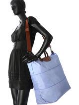 Longchamp Le pliage Sac de voyage Bleu-vue-porte