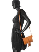 Crossbody Bag Axelle Leather Pieces Brown axelle 17073123-vue-porte