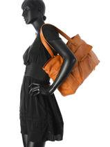 Shopper Musta Leather Pieces Brown musta 17079822-vue-porte