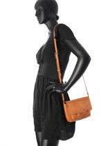 Shoulder Bag Musta Leather Pieces Brown musta 17079824-vue-porte