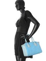 Sac Trapèze Palma Velvet Cuir Milano Bleu palma velvet PV16128-vue-porte