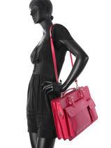 Briefcase Milano Pink london L803B-vue-porte