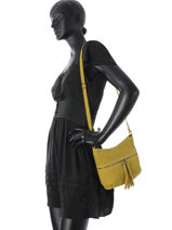Sac Bandoulière Velvet Stampa Cuir Milano Jaune velvet stampa V2151104-vue-porte
