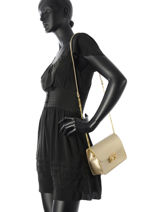 Shoulder Bag Palma Leather Milano Gold palma PA15092-vue-porte