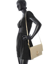Shoulder Bag Palma Leather Milano Gold palma PA16063-vue-porte