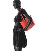 Shopper Palma Leather Milano Orange palma PA15013P-vue-porte