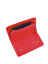 Continental Wallet Leather Nat et nin Red vintage TALIA-vue-porte