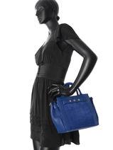 Sac Trapèze Vintage Cuir Nat et nin Bleu vintage SOLANGE-vue-porte