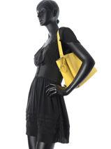 Shoulder Bag Kyo Leather Etrier Yellow kyo EKY602-vue-porte
