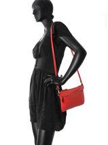 Sac Bandouliere Vintage Cuir Nat et nin Rouge vintage VICKY-vue-porte
