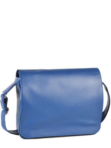 Longchamp Le foulonné Serviette Bleu