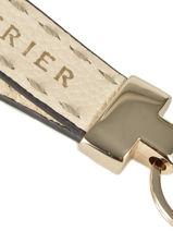 Porte-clefs Cuir Etrier Beige tradition EHER904-vue-porte