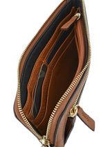 Wallet Leather Etrier Brown paris EPAR94-vue-porte