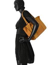 Shopper Caleche Leather Etrier Yellow caleche ECAL003B-vue-porte